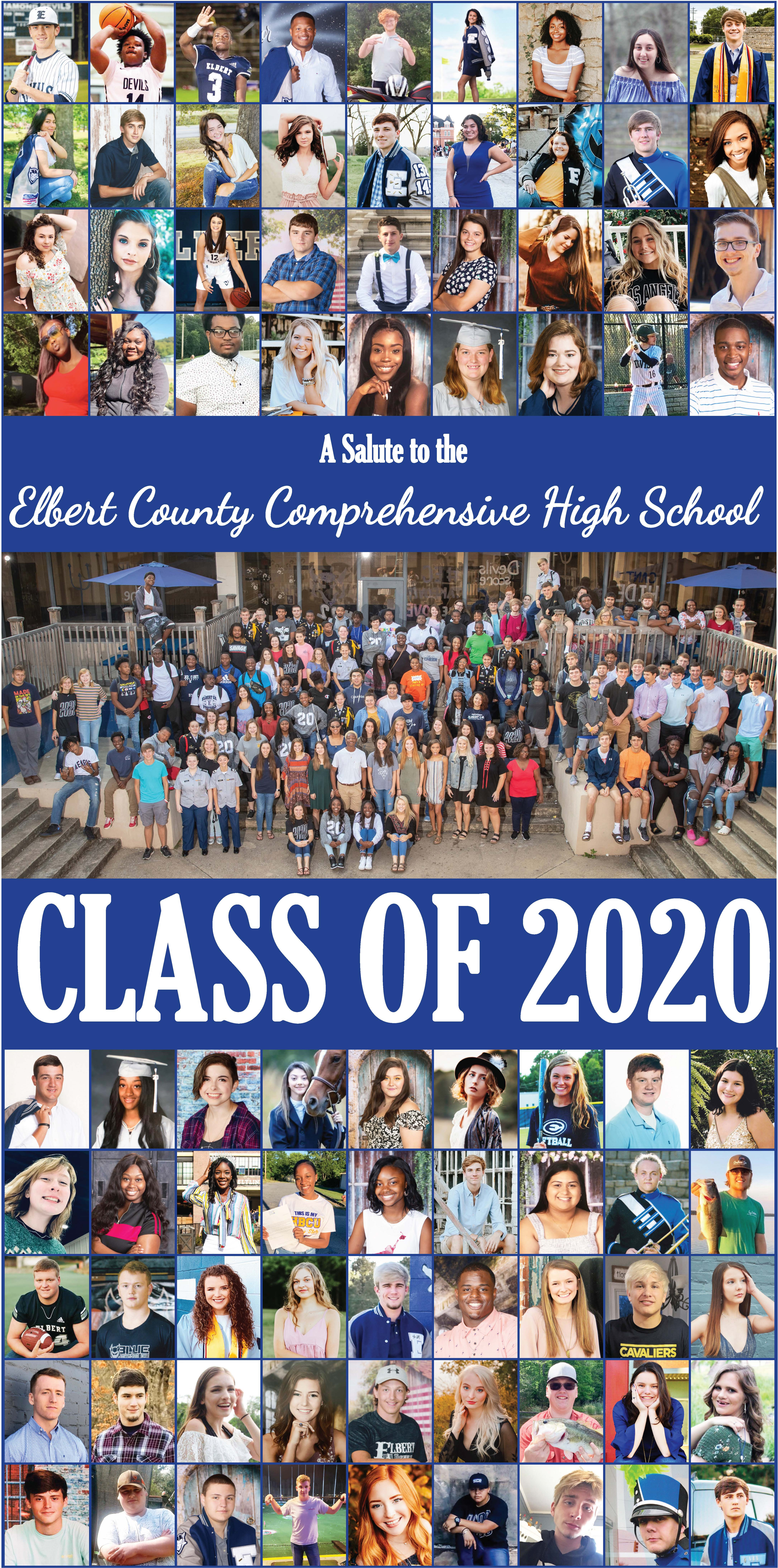 Front page of the 2020 Graduation section from The Elberton Star