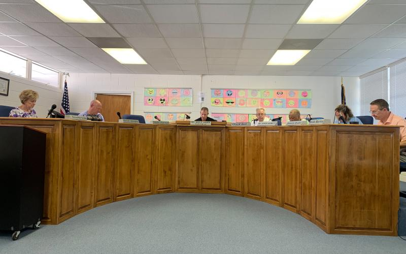 The Elbert County Board of Education approved a slight rollback millage increase Thursday in a called meeting. (Photo by Scoggins)