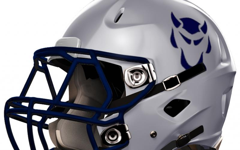 Elbert County Blue Devils Football Helmet