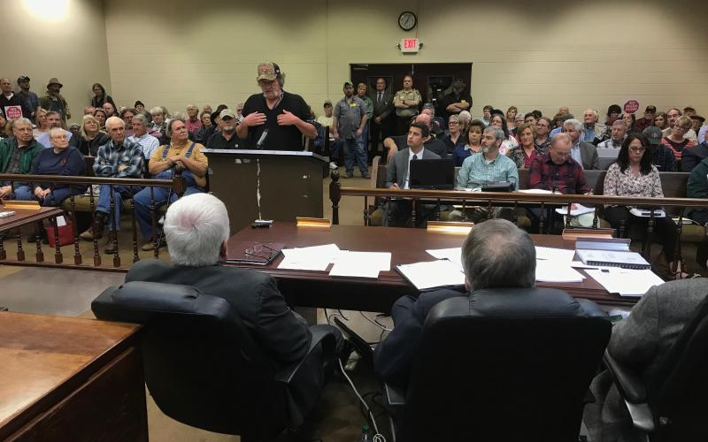 File photo from a court-ordered landfill hearing in March 2019.