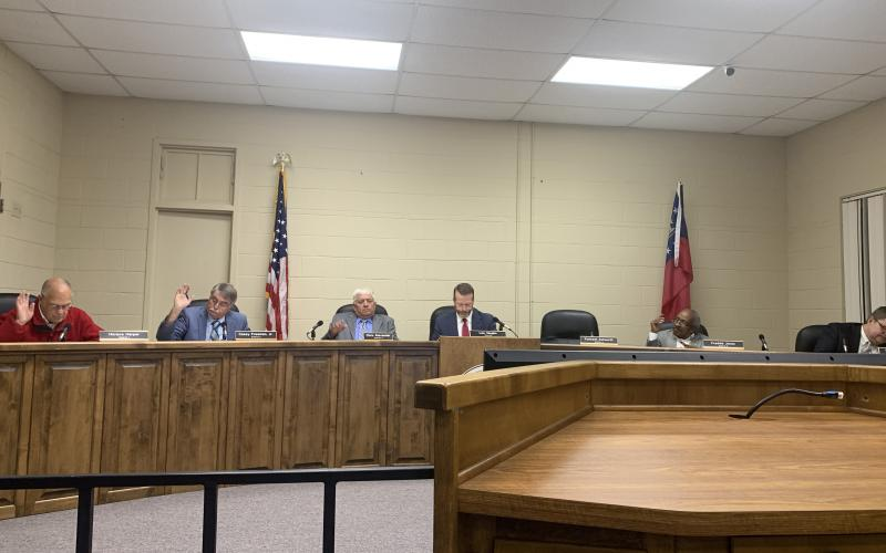 The Elbert County BOC at the regular monthly meeting Nov. 12.