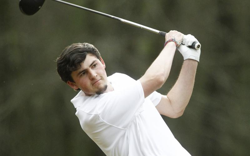 Blue Devil senior Evan Yeargin shot a 1-over-par 38 during Elbert County's win over Franklin and Hart counties March 10 at Highland Walk Golf Course at Victoria Bryant State Park in Royston. (File photo by Cary Best)