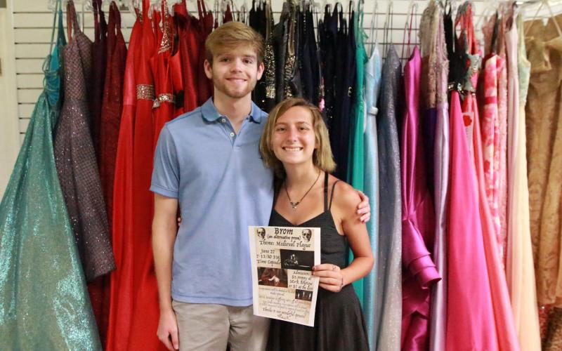 "There's going to be a prom - rather a ""Brom,"" after all! Madison Harpold and Ethan Cone say the June 27 event will be open to any student from any county that didn't get to have a prom because of COVID-19. (Photo by Scoggins)"