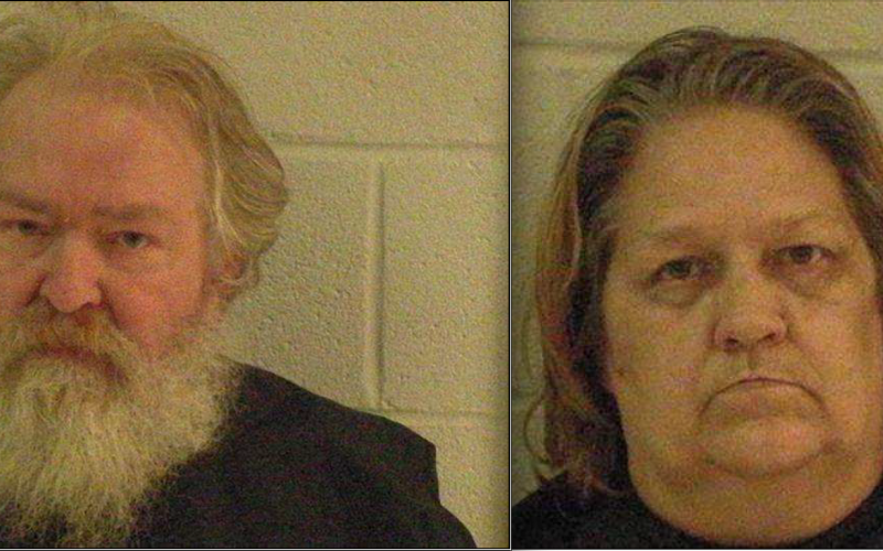 Larry Richard Myers and Connie Lou Myers (Photos from the Elbert County Sheriff's Office jail records)