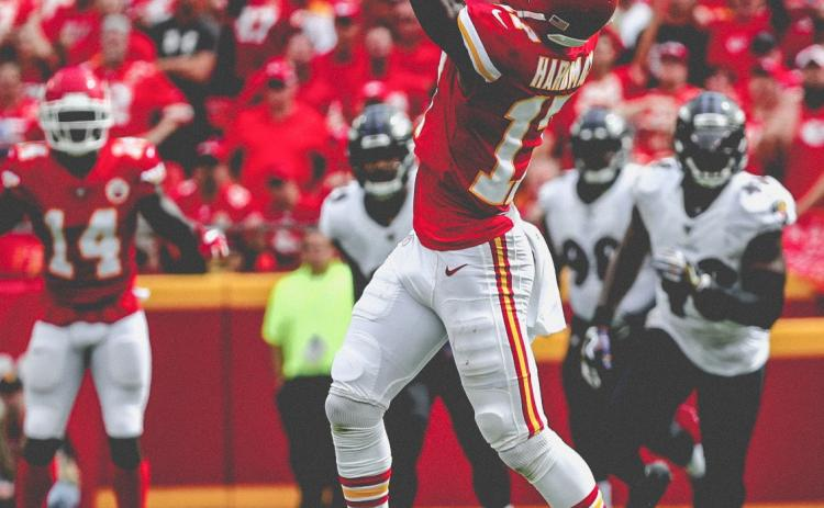 Kansas City Chiefs rookie receiver Mecole Hardman is leading the team in yards-per-catch after an 83-yard touchdown reception on Sept. 22 against the Baltimore Ravens. (Photo courtesy of the Kansas City Chiefs)