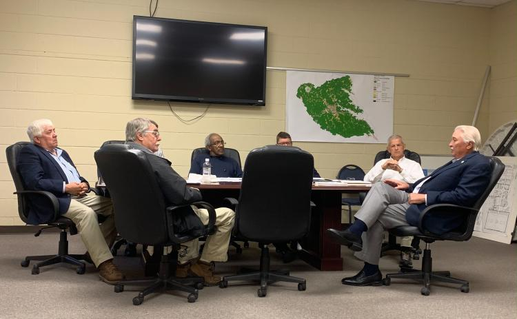 Senator Lee Anderson talks with the Elbert County BOC at their regular monthly work session on Dec. 5.