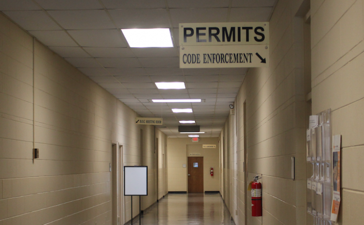 The permit and code enforcement office is located in the Elbert County government complex.